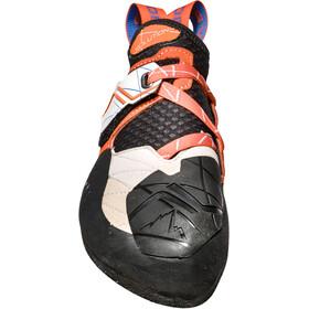 La Sportiva Solution Climbing Shoes Dame white/lily orange